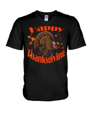 Happy Thanksgiving Long Sleeve TShirt V-Neck T-Shirt thumbnail