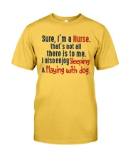 nurse sleep and playing with dog Classic T-Shirt thumbnail