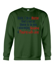 nurse sleep and playing with dog Crewneck Sweatshirt thumbnail