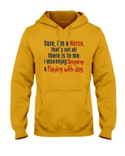 nurse sleep and playing with dog Hooded Sweatshirt thumbnail