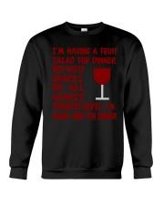 I'm having wine for dinner Long Sleeve  Crewneck Sweatshirt thumbnail