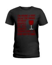 I'm having wine for dinner Long Sleeve  Ladies T-Shirt thumbnail