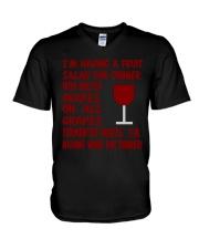 I'm having wine for dinner Long Sleeve  V-Neck T-Shirt thumbnail