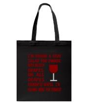 I'm having wine for dinner Long Sleeve  Tote Bag thumbnail