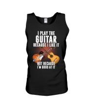 guitar i play because Unisex Tank thumbnail
