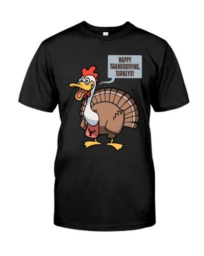 Thanksgiving Turkeys Dark TShirt