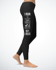 Run like theres a hot guy Ladies Leggings lifestyle-leggings-right-1