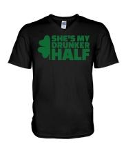 Shes my drunker half  V-Neck T-Shirt thumbnail
