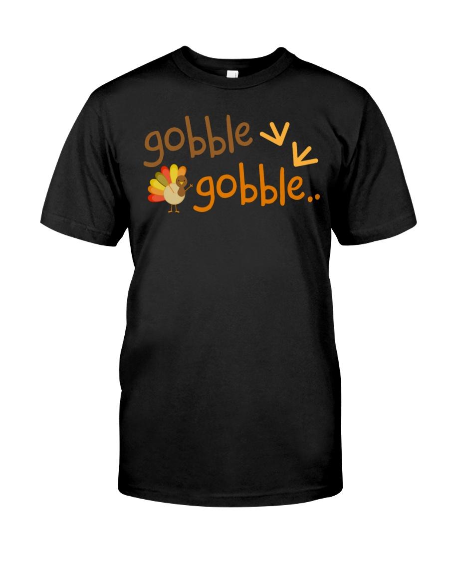 Gobble Turkey Thanksgiving TShirt Classic T-Shirt