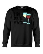 I Go Both Ways Wine  Crewneck Sweatshirt thumbnail