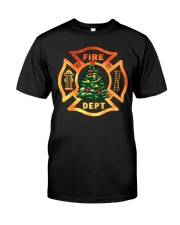 fire christmas tree Classic T-Shirt tile