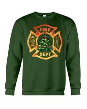 fire christmas tree Crewneck Sweatshirt thumbnail