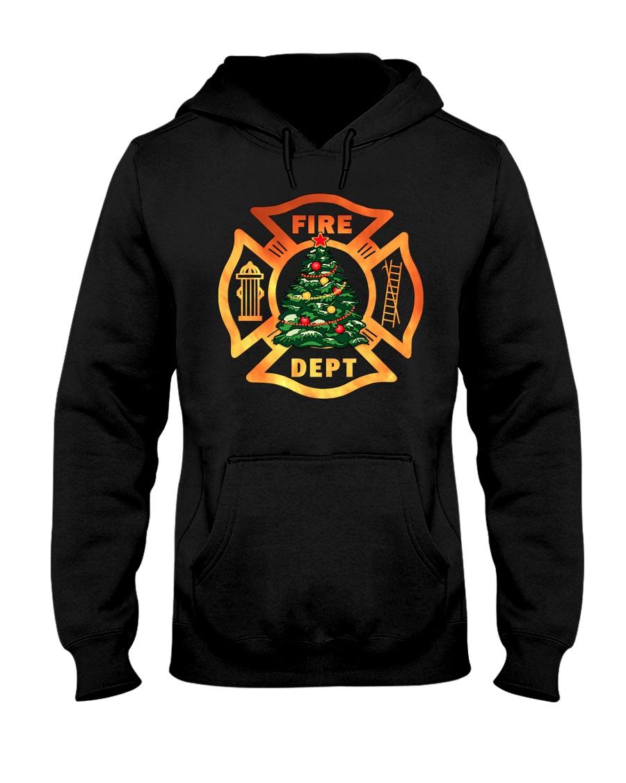 fire christmas tree Hooded Sweatshirt