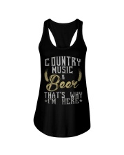 country music and beer that's why i'm here Ladies Flowy Tank thumbnail