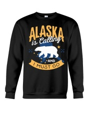 Alaska is Calling And I Must Go Crewneck Sweatshirt thumbnail