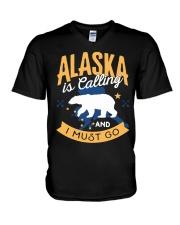 Alaska is Calling And I Must Go V-Neck T-Shirt thumbnail