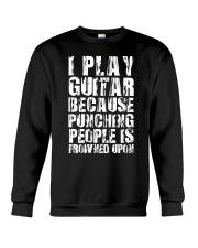 Guitar Play because Crewneck Sweatshirt thumbnail