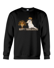 Cockapoo and Turkey Happy Thanksgiving Dark TShir Crewneck Sweatshirt thumbnail