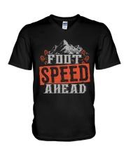 Hiking Mountain Foot Speed V-Neck T-Shirt thumbnail