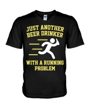 Beer Drinker Running Problem V-Neck T-Shirt thumbnail