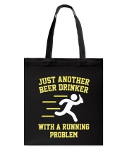 Beer Drinker Running Problem Tote Bag thumbnail