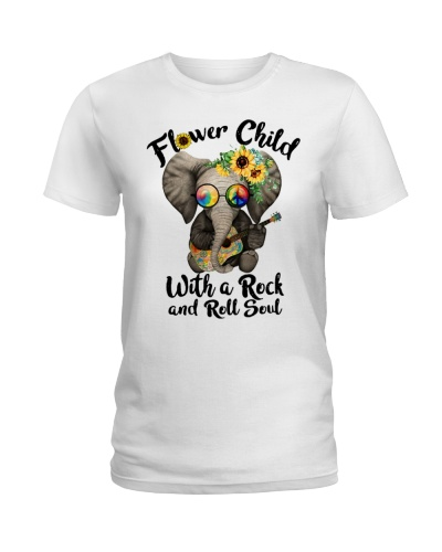 elephant flower child with a rock and ro 6542975