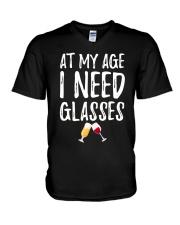 At my age i need glasses V-Neck T-Shirt thumbnail