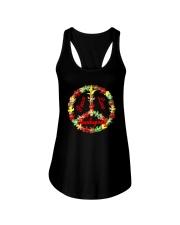 Thanksgiving Peace Sign Dark TShirt Ladies Flowy Tank thumbnail