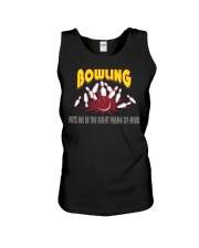 Bowling Puts Me In The Right Frame Of Mind Light T Unisex Tank thumbnail