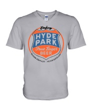 hydeparkbeerwhite Dark  V-Neck T-Shirt tile