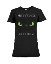 hello darkness dragon Premium Fit Ladies Tee tile