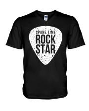 Guitar Spare time rock star V-Neck T-Shirt thumbnail