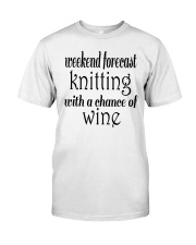 Knitting and Wine Women's V-Neck  Classic T-Shirt front