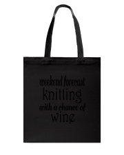 Knitting and Wine Women's V-Neck  Tote Bag thumbnail