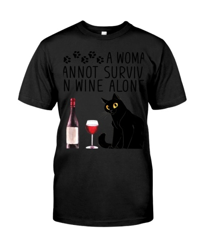 cat woman and wine