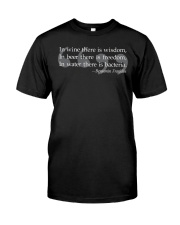 Ben Franklin Beer Quote  Classic T-Shirt front