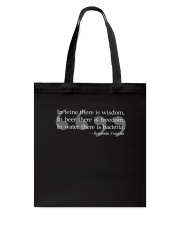 Ben Franklin Beer Quote  Tote Bag thumbnail