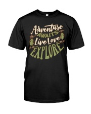 Hiking Camping Adventure Classic T-Shirt front