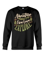 Hiking Camping Adventure Crewneck Sweatshirt thumbnail
