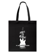 Guitar Leave me alone Tote Bag thumbnail