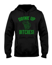 Drink Up Bitches Women's Dark  Hooded Sweatshirt thumbnail