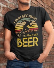 i run because i really like beer vintage 33805 2 Classic T-Shirt apparel-classic-tshirt-lifestyle-26