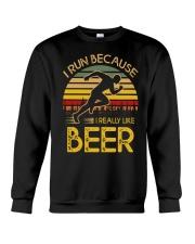 i run because i really like beer vintage 33805 2 Crewneck Sweatshirt thumbnail