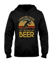 i run because i really like beer vintage 33805 2 Hooded Sweatshirt thumbnail