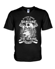 Be strong enough to be someone V-Neck T-Shirt thumbnail