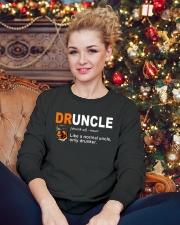Druncle Crewneck Sweatshirt lifestyle-holiday-sweater-front-2
