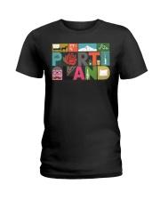 Unique Portland - Block by Block  Ladies T-Shirt thumbnail