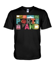 Unique Portland - Block by Block  V-Neck T-Shirt thumbnail