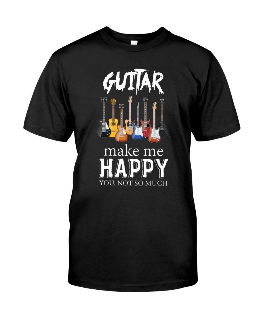 Guitar Makes me happy Classic T-Shirt