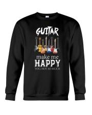 Guitar Makes me happy Crewneck Sweatshirt thumbnail